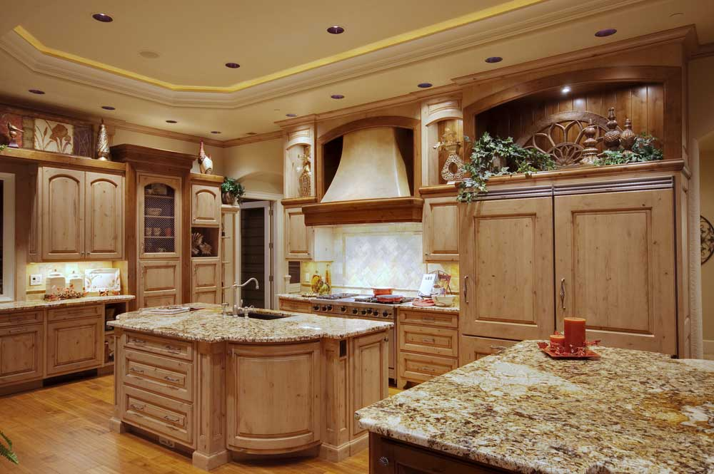 Photo gallery flooring kansas city kenny 39 s tile for Brown and blue kitchen ideas