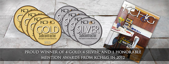 Proud Winner of 4 Gold, 4 Silver, and 1 Honorable Mention Awards from KCH&G in 2012